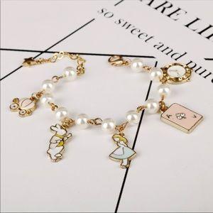 Brand New Alice in Wonderland Charm Bracelet